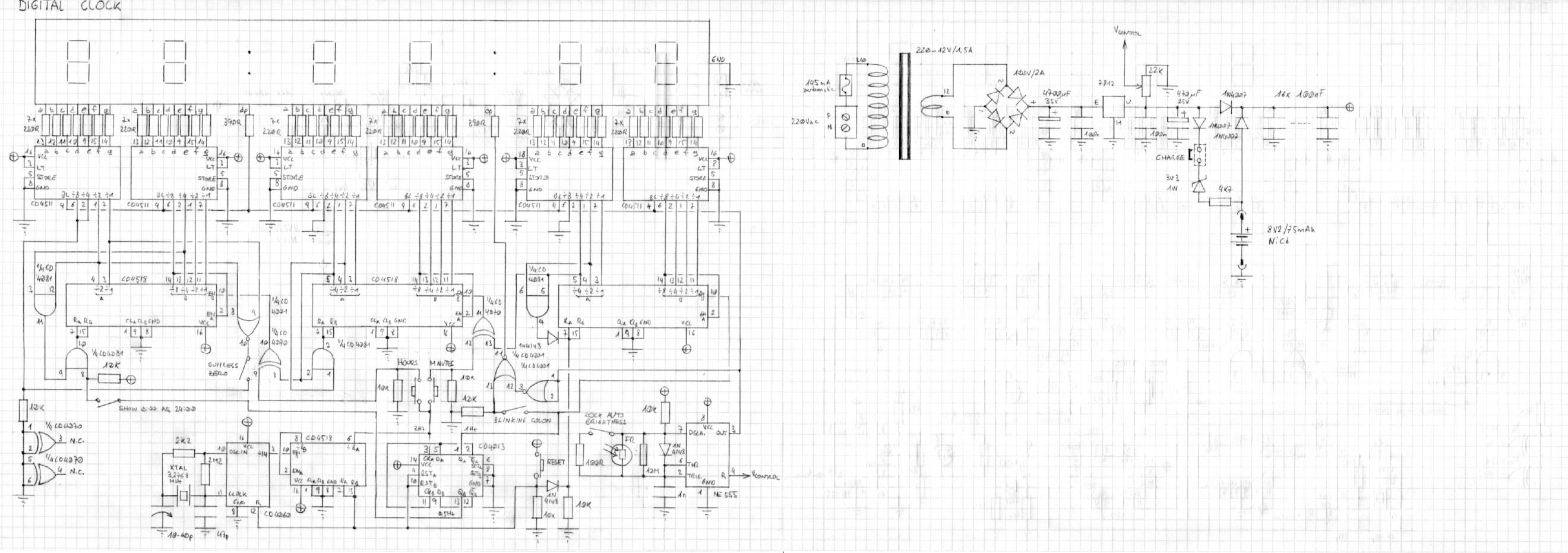 logic diagram of a 12 hour digital clock  u2013 the wiring
