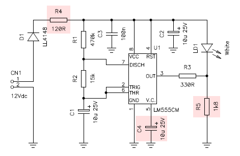 a 555 based comet shaped christmas flasher rh giangrandi ch Signal Flasher Circuit Board Simple LED Flasher Circuit