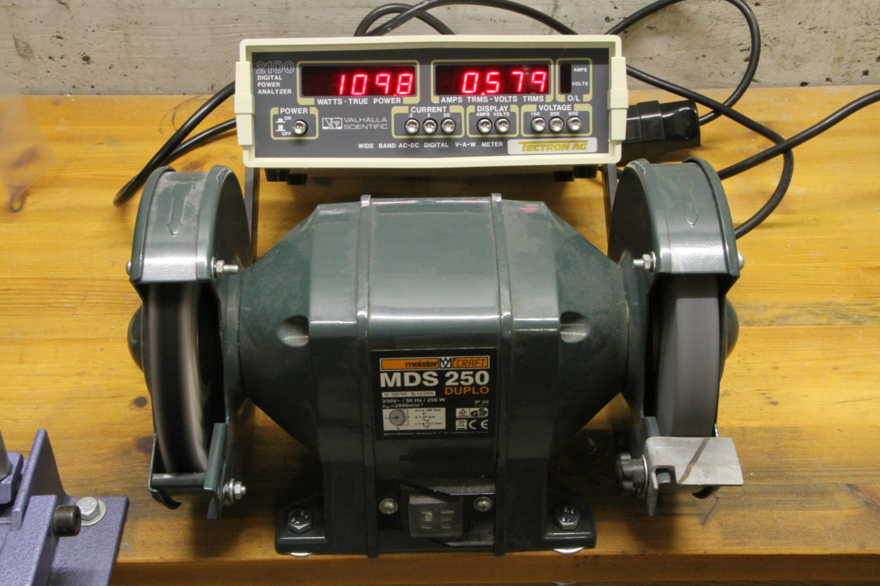 The Same Bench Grinder Being Measured With An Ac Power Analyzer (click To  Enlarge