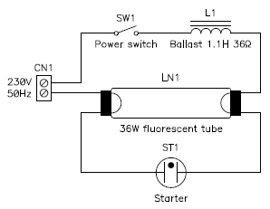 ballast wiring diagram circuit 250v ballast wiring diagram some measurements on a fluorescent tube and its magnetic ...