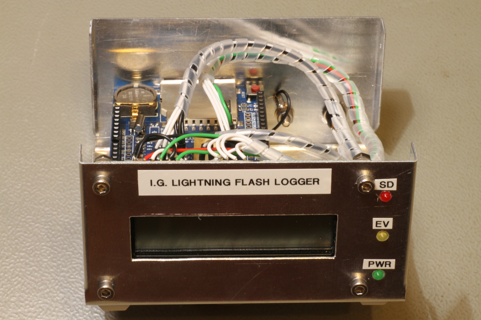A Lightning Flash Counter Circuit Project Simple Detector Front View Of The Logger Click To Enlarge