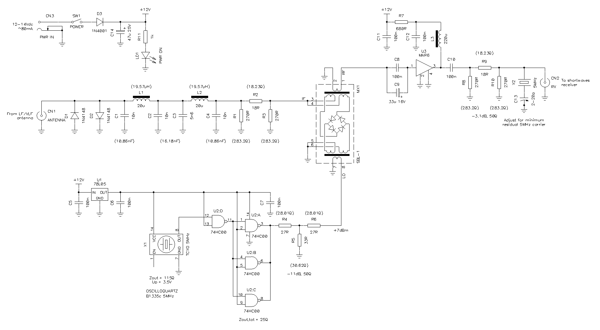 An Up Converter For Receiving Long And Very Waves Unfortunately The Diagrams Do Not Show Internal Circuitry Of Block Diagram Click Full