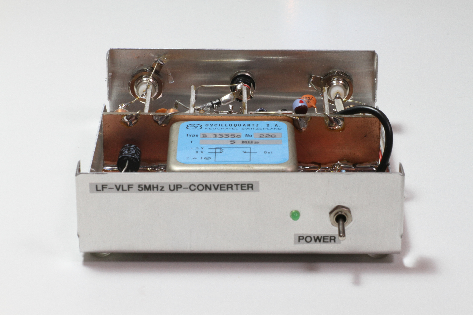An up-converter for receiving long and very long waves