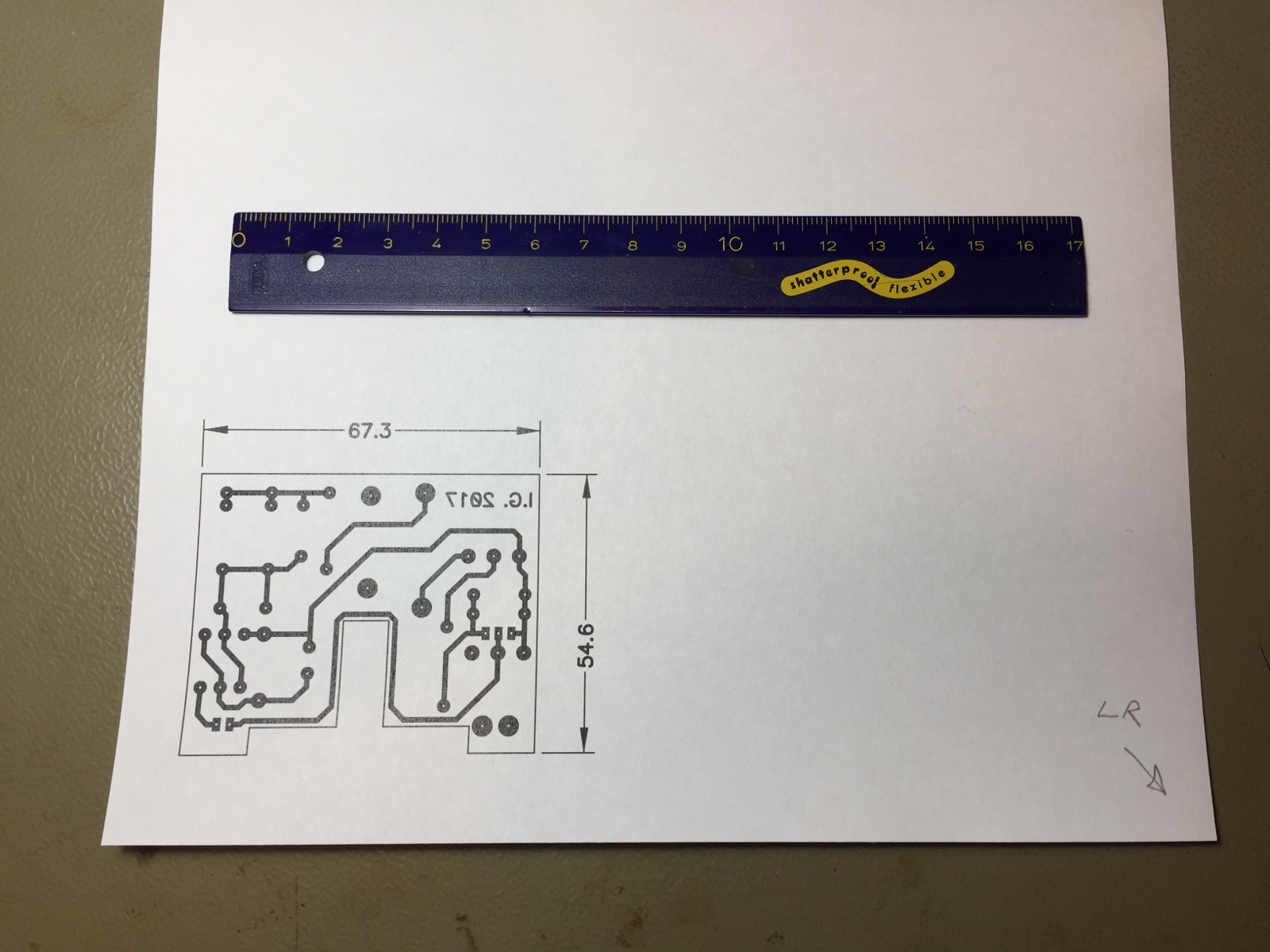 Etching printed circuits boards at home