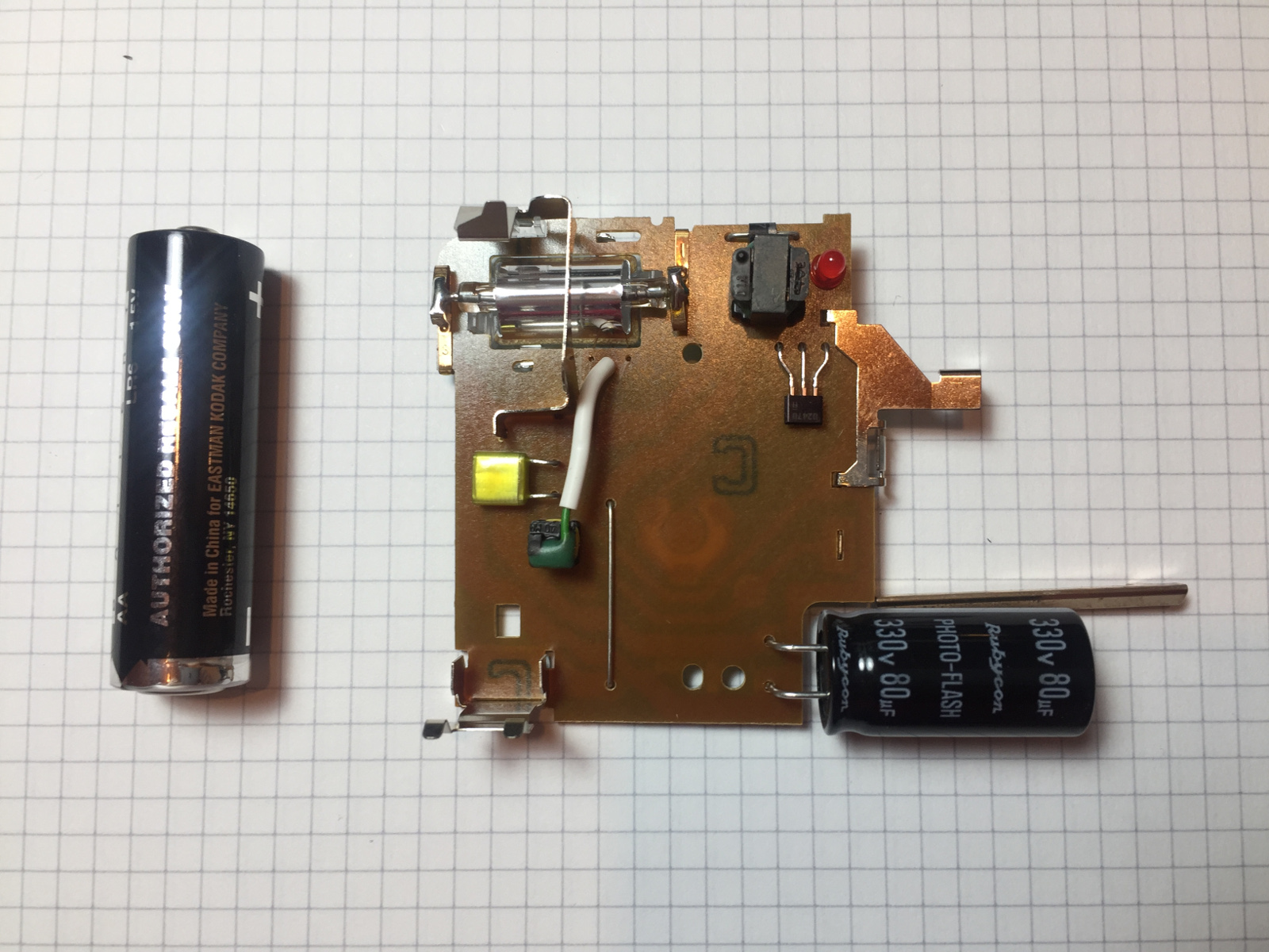 A Twin Tube Geiger Counter Camera Flash Circuit Further Disposable Schematic Picture Of Where Suitable Transformer Can Be Found Pcb Top