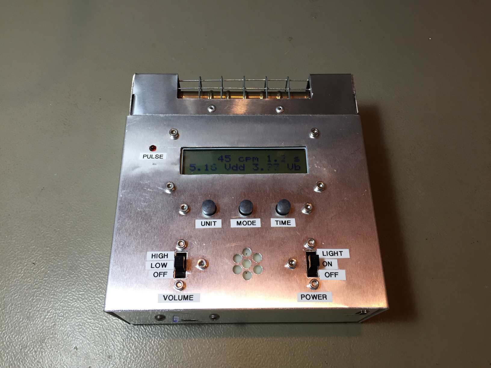 A Twin Tube Geiger Counter Home Made Fuse Box Holder Top View Of The Instrument Click To Enlarge